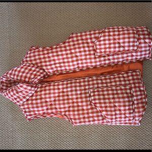 Orange Checkered Vest